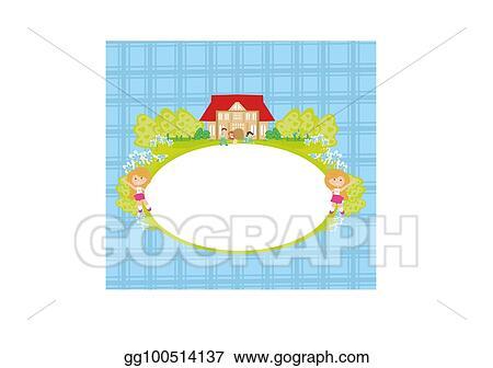Clip Art Vector Back To School Frame Stock Eps Gg100514137 Gograph
