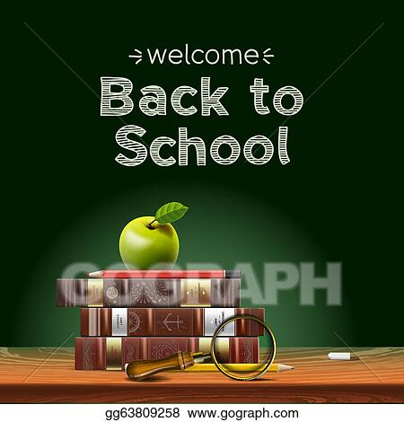 School Boy Carrying Books By A Welcome Chalk Board Royalty Free Cliparts,  Vectors, And Stock Illustration. Image 6792901.