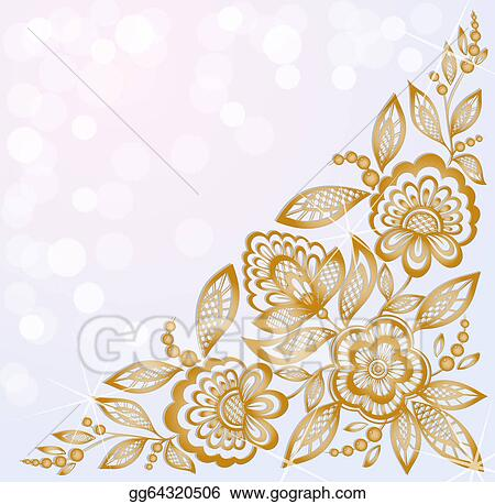 Clip Art Vector Background Decorated With Beautiful Carved