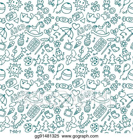 Vector Art Background For Little Boys And Girls Doodle