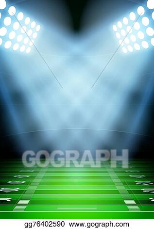 stock illustration background for posters night football stadium in the spotlight clipart drawing gg76402590 gograph gograph