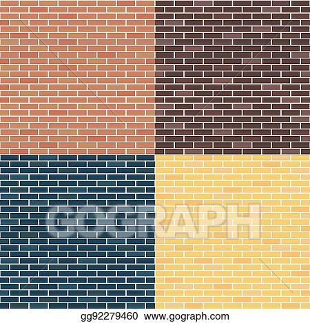 Vector Stock - Background of brick walls. red, yellow, blue, brown ...