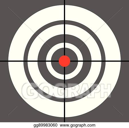 Vector Stock Background With Target Reticle Crosshair Symbol