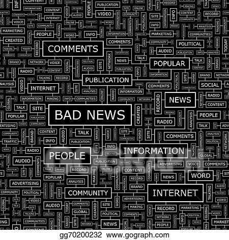 Vector Stock Bad News Clipart Illustration Gg70200232 Gograph