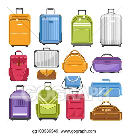 60768705681b Vector Art - Bags different type models of travel