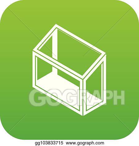 Vector Art Balcony Window Frame Icon Green Vector Clipart