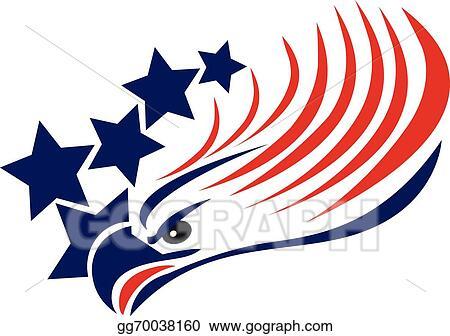 vector art bald eagle american flag logo clipart drawing rh gograph com american flag clip art black and white american flag clip art borders