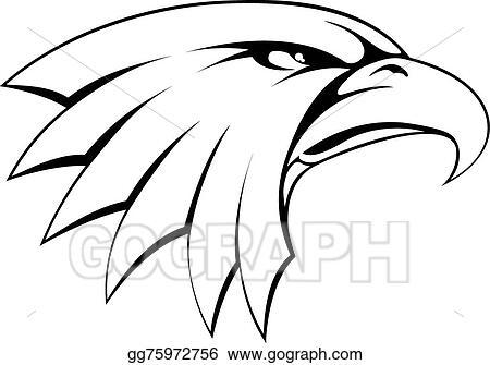 vector art bald eagle head icon eps clipart gg75972756 gograph rh gograph com eagle head mascot clipart bald eagle head clipart