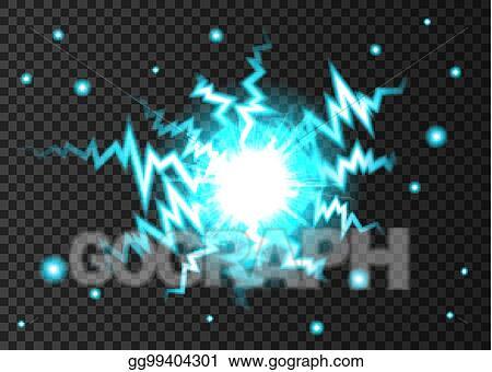 vector stock ball lightning or electricity blast on transparent