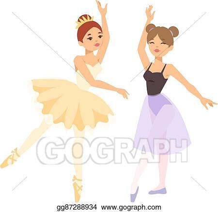Vector Art Ballerina Dancer Vector Girl Clipart Drawing Gg87288934 Gograph