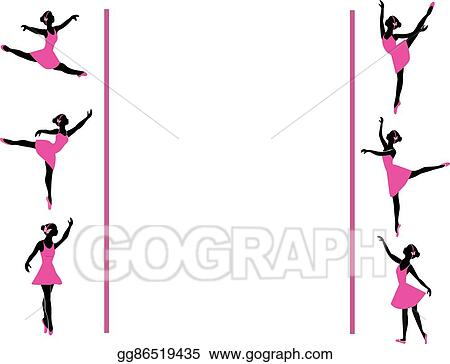 Vector Stock - Ballerinas dancing frame. Clipart Illustration ...