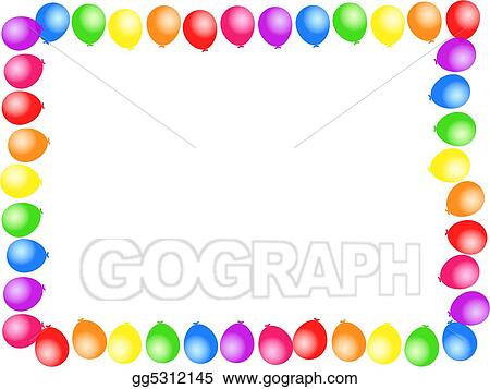 stock illustration balloon border clipart drawing gg5312145 gograph rh gograph com balloon border clip art microsoft