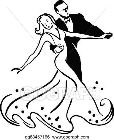 vector illustration ballroom dancing stock clip art gg68457166 rh gograph com ballroom dancing couple clipart Ballroom Dancing Silhouettes