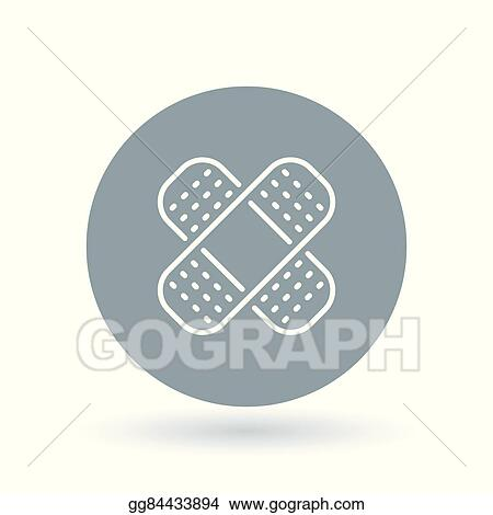 Vector Art Bandaid Icon Bandage Sign Plaster Symbol Vector