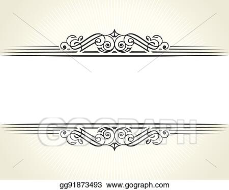 Vector Illustration - Banner islam ethnic design. white invitation ...
