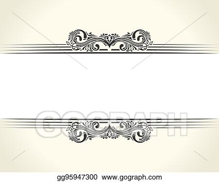 Vector Illustration - Banner islam ethnic design. white invitation ...