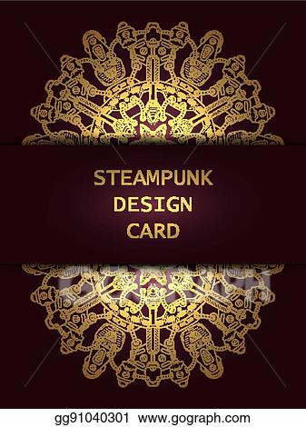 Vector Art Banner With Steampunk Design Elements Eps Clipart Gg91040301 Gograph