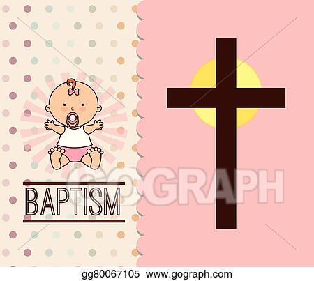 Vector art baptism invitation design clipart drawing gg80067105 baptism invitation design stopboris Images