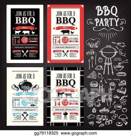 vector clipart barbecue party invitation bbq template menu design