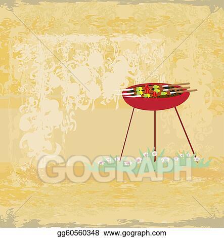 Stock Ilration Barbecue Party Invitation Clipart