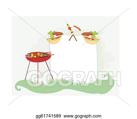 vector art barbecue party invitation clipart drawing gg61741589