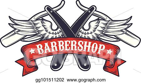 Vector Stock Barbershop Barber Haircut Hairstyle Logo Template
