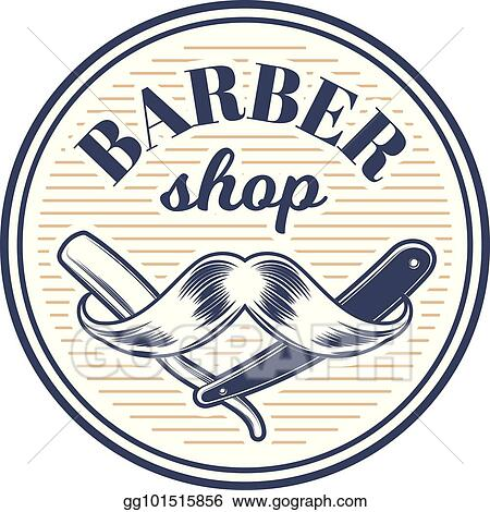 vector stock barbershop barber haircut hairstyle logo template