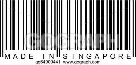 eps vector barcode made in singapore stock clipart illustration