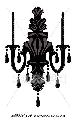 Baroque Elegant Wall Lamp With Ornaments
