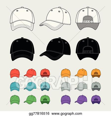 eps illustration baseball cap vector template vector clipart