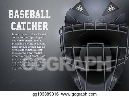Vector Stock Baseball Catcher Mask Helmet Clipart Illustration