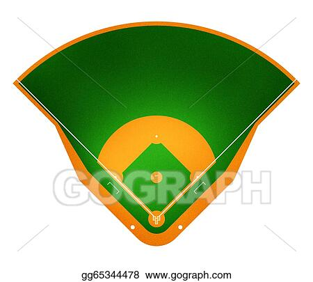 stock illustrations baseball field stock clipart gg65344478 gograph rh gograph com baseball diamond clipart black and white baseball field clipart free