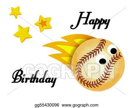 Baseball Softball Clip Art Happy Birthday Free Vector And Clipart
