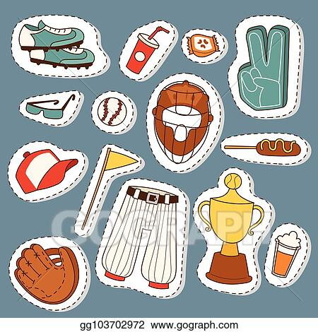Vector Illustration Baseball Sport Competition Game Team Symbol