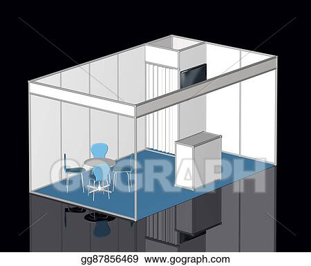 Exhibition Stand Design Drawings : Stock illustration basic exhibition stand template clipart