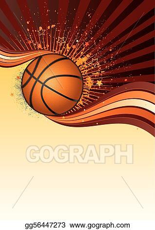 Vector Clipart Basketball Background Vector Illustration Gg56447273 Gograph