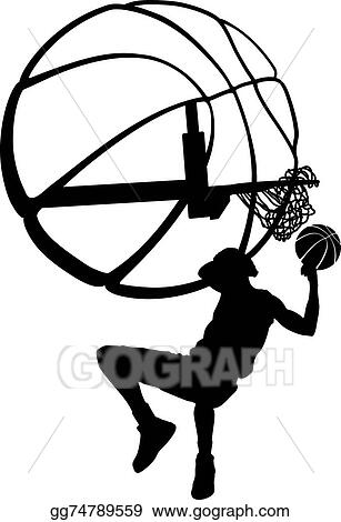 Vector Illustration - Basketball behind head dunk silhouette. Stock ... f0f92e9c47