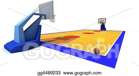 stock illustration basketball court clip art gg4489233 gograph rh gograph com outdoor basketball court clipart basketball court clipart free printable