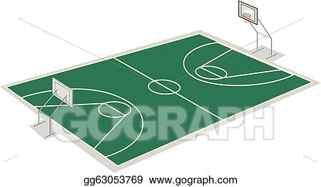 vector art basketball court clipart drawing gg63053769 gograph