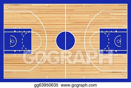 stock illustration basketball court clip art gg63950635 gograph rh gograph com basketball half court clipart basketball half court clipart