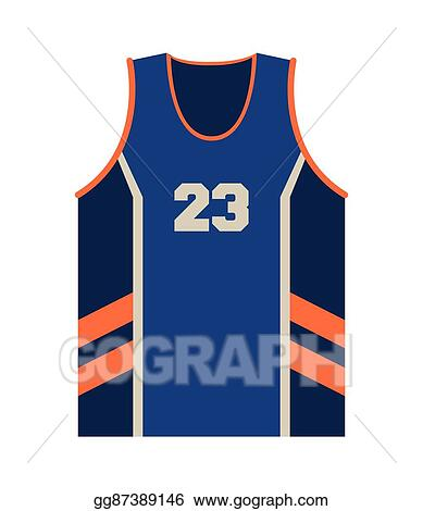 clip art vector basketball jersey icon stock eps gg87389146 gograph rh gograph com blank basketball jersey clipart basketball jersey clipart