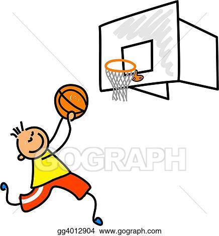 drawing basketball kid clipart drawing gg4012904 gograph rh gograph com free clipart basketball court free clipart basketball court