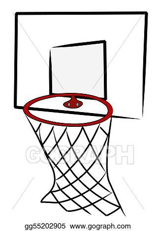 Stock Illustration Basketball Net And Back Board Illustration