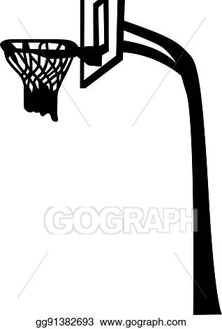 Basketball Net Black And White Png Clipart - Full Size Clipart (#694734) -  PinClipart