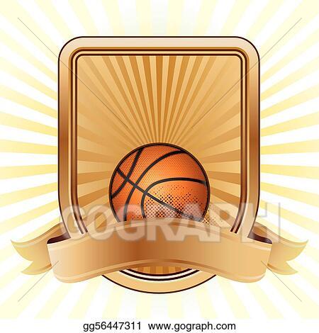 Vector Stock Basketball Sport Design Element Clipart Illustration