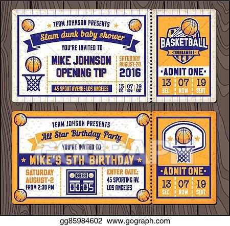clip art vector basketball vector ticket templates stock eps