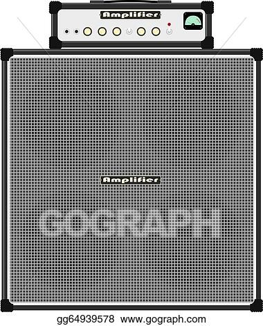 Vector Art Bass Guitar Amplifier Clipart Drawing Gg64939578 Gograph