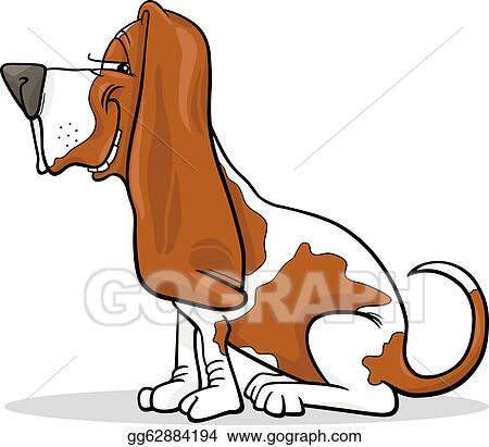 clip art vector basset hound dog cartoon illustration stock eps rh gograph com basset hound clipart black and white