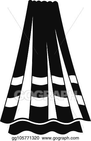b71b52cd41e1 Clip Art Vector - Bath towel icon, simple style. Stock EPS ...