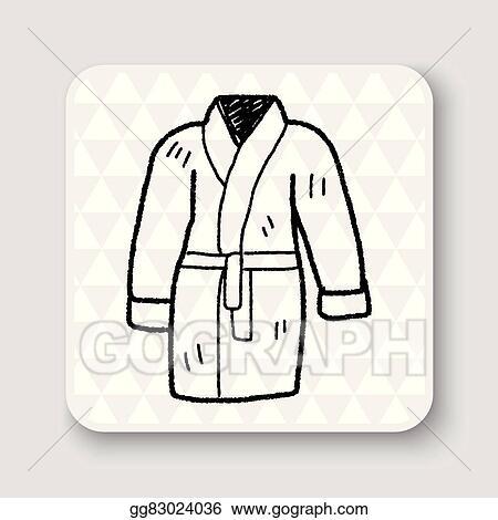 4e699898b5 Vector Clipart - Bathrobe doodle. Vector Illustration gg83024036 ...